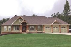house plans with basement \ house plans + house plans one story + house plans farmhouse + house plans with wrap around porch + house plans with in law suite + house plans 4 bedroom + house plans with basement + house plans open floor Craftsman Ranch, Craftsman Style House Plans, Ranch House Plans, Rambler House Plans, Craftsman Exterior, House Plans One Story, Best House Plans, House Floor Plans, 1 Story House