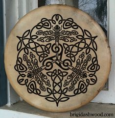 Celtic Dragonfly Bodhran Drum Hand painted by BrightArrow on Etsy