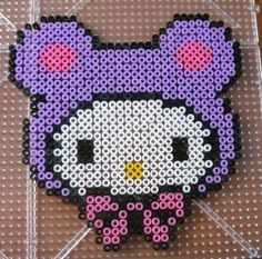 Hello Kitty hama perler by Les créations d'Alexpexpex