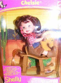 Shelly Kelly Doll Cowgirl Chelsie Playset Retired (1998) by Mattel. $68.88. Rare international Shelly/Kelly Cowgirl Doll on a rocking horse.