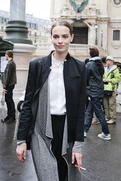 Mina Cvetkovic at Stella McCartney SS 2015 Paris Snapped by Benjamin Kwan Paris Fashion Week