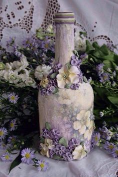 1 million+ Stunning Free Images to Use Anywhere Recycled Glass Bottles, Glass Bottle Crafts, Wine Bottle Art, Bottle Charms, Diy Bottle, Bottle Candles, Bottles And Jars, Glass Tea Cups, Candle Containers