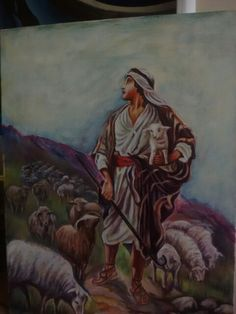 Shepherd and his sheep