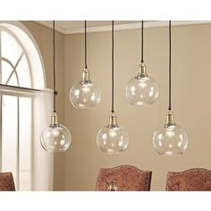 Abbyson Edison Glass 5 Light Pendant Light By Abbyson