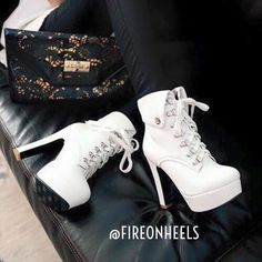 What'ya think of these Heel Boots?  @fireonheels  #boots