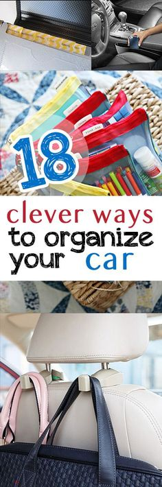 Here are some awesome ideas to clean and organize your car!