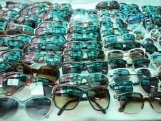 Vintage sunglasses at Via Sannio Market, Rome. Monday to Saturday, morning to early afternoon (later on Saturday). Near La Basilica di San Giovanni in Laterano.