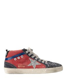 Shop the Golden Goose Mid Star Splatter Canvas High-Top Sneakers