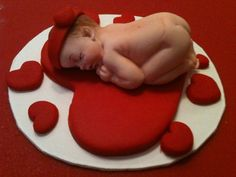 Fondant Baby cake topper A gift from the Heart by anafeke on Etsy, $15.00
