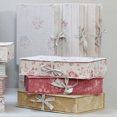 lovely box files, by Kate Forman fabrics