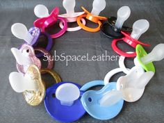 AB/DL, DD/LG/ MM/LG, TB/DL, Adult Baby Sized Large Pacifier (12 x Colour Options