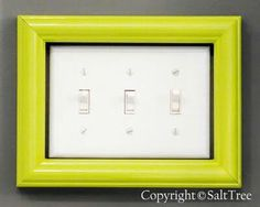 Low vision assistance. Frame the light switch panel and paint frame with glow in the dark paint.