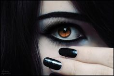Someday I will wear black makeup