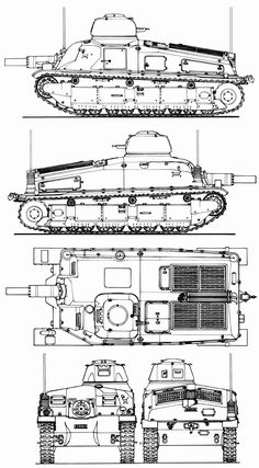 Somua SAu 40 blueprint
