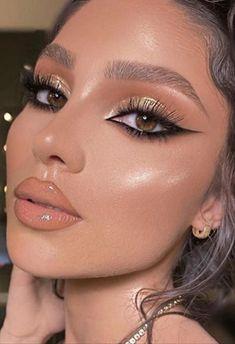 Glam Makeup Look, Edgy Makeup, Makeup Eye Looks, Eye Makeup Art, Cute Makeup, Gorgeous Makeup, Pretty Makeup, Hair Makeup, Makeup Looks For Brown Eyes