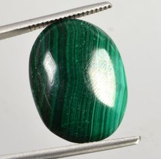 22.70 Ct Certified Natural Oval Cabochon Malachite  Gemstone CN-107910