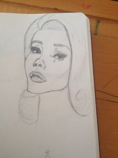 A quick sketch #sketch #girl #lanadelrey #drawing