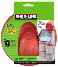 SHUR-LINE 1783844 GalStore and Pour Paint Lid - Shur Line Paint Can Lid - Amazon.com