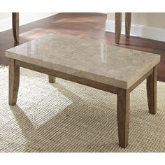 Greyson Living Fulham Marble Top Coffee Table Brown