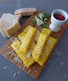 Bâtonnets de polenta au parmesan