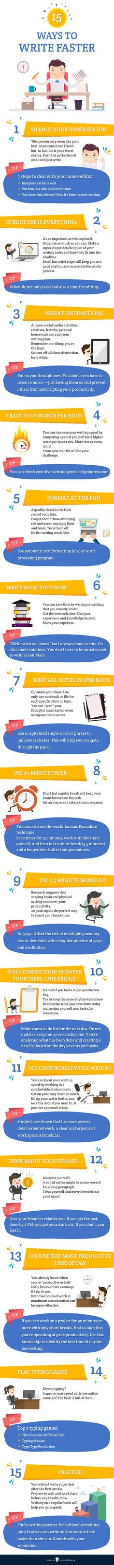 15 Tips to Help You Write Faster [Infographic]