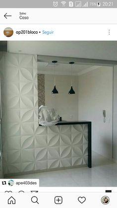 Kitchen Pantry Design, Home Decor Kitchen, Interior Design Kitchen, Open Kitchen And Living Room, Home Living Room, Mdf Wall Panels, Home Decor Shelves, Modern Kitchen Interiors, Home Bar Designs