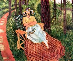 Repose among the Trees / Henri Matisse - 1923