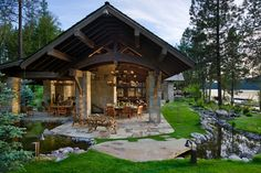 Fabulous outdoor living space and lake view!  Check out this whole house, it is amazing inside & out!