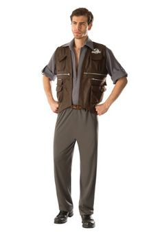 Do you think you have what it takes to train raptors? Go ahead, give it a shot while you wear this Adult Deluxe Jurassic World Owen Costume.