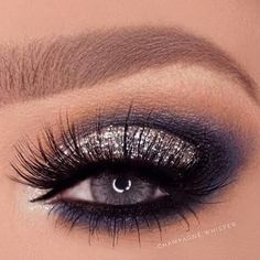 Homecoming makeup The Effective Pictures We Offer You About smokey eye makeup gray A quality picture Navy Eye Makeup, Smokey Eye Makeup, Eyeshadow Makeup, Navy Blue Dress Makeup, Navy Blue Eyeshadow, Makeup To Go With Black Dress, Prom Make Up For Blue Dress, Black Makeup, Smoky Eye
