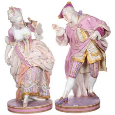 A Pair of Large French Bisque Figures.