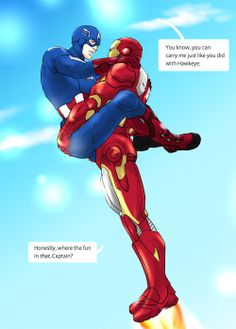 superhusbands | superhusbands | Tumblr   PLEASE HAVE TONY PICK STEVE UP LIKE THIS IN THE NEXT AVENGERS MOVIE IF THEY DO ILL SCREAM WHILE IN THE THEATRE