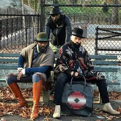 Buffalo Soldier Queer Fashion, Dark Fashion, Urban Fashion, Mens Fashion, Modern Tribe, Beard Game, Gentleman's Wardrobe, Great Beards, Gq Style
