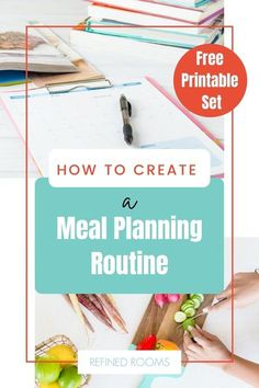 Planning Your Day, Menu Planning, Meal Planner Printable, Organized Mom, Time Management Tips, Life Organization, Free Printables, Routine, Stress