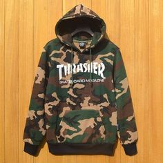 Men Women Couple Sportswear Hooded Sweatshirts Camouflage Skateboard Graphic Pullover Hoodies Thrasher Hoodie Pigalle Tracksuit