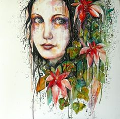 "Saatchi Online Artist Dreya Novak; Painting, ""Hope, Faith and Love"" #art"