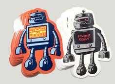 featuring Skinner, Travis Millard, Yema Yema, Zombie Yeti, Reuben Rude and Morning Breath Inc. Free Stickers, Custom Stickers, New Artists, Whale, Robot, Graffiti, Street Art, Packing, Shirt