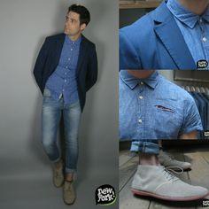 Chemise : #Scotch & Soda Blazer : Scotch & Soda Jean : #Jack Jones. Chaussures : #Timberland.