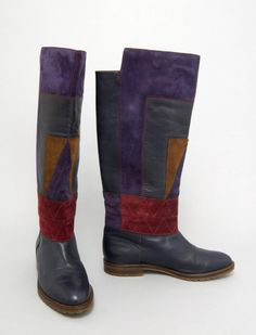 Fratelli Rosetti Boots - Italy 1980s Leather and suede