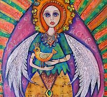 Guardian Angel with her Bird by Birchwood1
