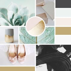 moodboard | color inspiration | mint | rose | gold | mint and rose