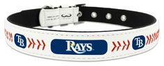 Tampa Bay Rays Classic Leather Small Baseball Collar