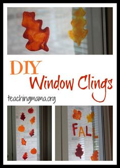 Window Clings Learn the simple craft of DIY Window Clings.Learn the simple craft of DIY Window Clings. Thanksgiving Crafts, Fall Crafts, Halloween Crafts, Holiday Crafts, Arts And Crafts, Diy Crafts, Autumn Crafts For Kids, Halloween Bottles, Quick Crafts
