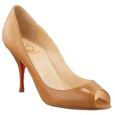 Christian Louboutin You You 85 Leather Pumps Camel