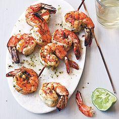 Broiled Marinated Shrimp Skewers