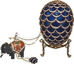 Blue and diamonds faberge-eggs