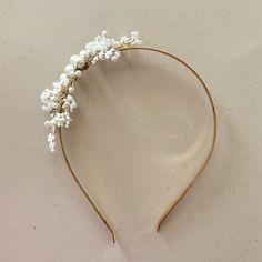White Flowers Headband  Bridal Headband Pearl by amuandpri on Etsy