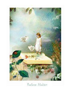Fairy Art Print 'Nature Studies ' by CharlotteBirdfairies, $32.00