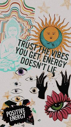 positive energy and good vibes. positive energy and good vibes. positive energy and good vibes. Magazine Collage, Aesthetic Iphone Wallpaper, Aesthetic Wallpapers, Positive Energie, Galaxy Wallpaper, Wallpaper Samsung, Psychedelic Art, Wallpaper Quotes, Good Vibes Wallpaper