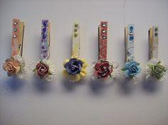 Altered Clothespins - Scrapbook.com